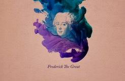 Koning Frederick Groot stock illustratie