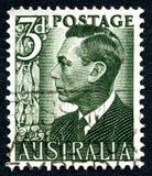 Koning George VI Australische Postzegel Royalty-vrije Stock Fotografie