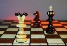 Koning in gevaar Royalty-vrije Stock Afbeeldingen