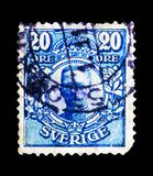 Koning Gustav V, serie, circa 1911 Stock Foto's