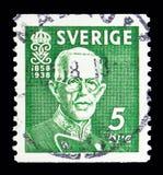 Koning Gustav V, Verjaardag serie, circa 1938 Royalty-vrije Stock Foto's