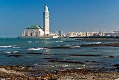 Koning Hassan II Moskee, Casablanca, Marokko Royalty-vrije Stock Fotografie