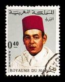Koning Hassan II (1929-1999), serie, circa 1968 Royalty-vrije Stock Foto