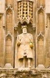 Koning Henry VIII standbeeld, Cambridge Stock Afbeelding