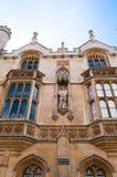 Koning Henry VIII standbeeld, de Universiteit van de Koning, Cambridge Royalty-vrije Stock Foto's