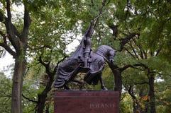 Koning Jagiello, Central Park, de Stad van New York royalty-vrije stock foto's