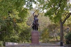 Koning Jagiello, Central Park, de Stad van New York Stock Foto's