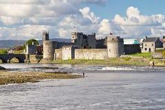 Koning John Castle in Limerick Stock Foto's