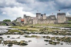 Koning John Castle in Limerick Royalty-vrije Stock Foto