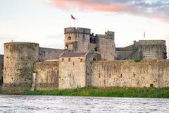 Koning John Castle in Limerick Royalty-vrije Stock Fotografie