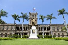 Koning Kamehameha I Standbeeld stock foto
