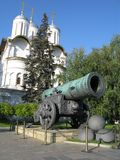 Koning-kanon (tsaar-Pushka) stock afbeelding