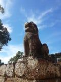 Koning Lion Stone Statue Royalty-vrije Stock Afbeelding