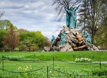 Koning Memorial Fountain - Washington Park - Albany, New York stock foto's