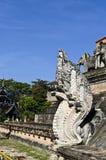Koning Naga bij Tempel Jetiyaluang Royalty-vrije Stock Fotografie
