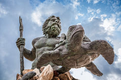 Koning Neptune Statue in Virginia Beach Stock Foto's