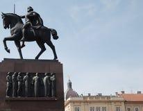 Koning op een paard Royalty-vrije Stock Foto's