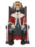 Koning op troon Royalty-vrije Stock Foto's
