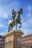 Koning Philip III op Pleinburgemeester royalty-vrije stock foto