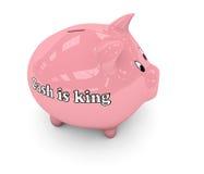 Koning piggybank Stock Foto