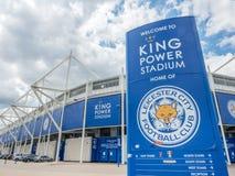 Koning Power Stadium bij de stad van Leicester, Engeland Royalty-vrije Stock Afbeeldingen