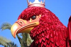 Koning Red Eagle - Carnaval van Nice 2016 stock foto