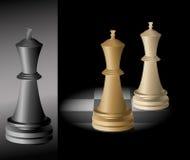 Koning - schaak - vector Royalty-vrije Stock Foto's