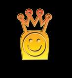 Koning Smiley stock illustratie