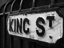 Koning Street Royalty-vrije Stock Fotografie