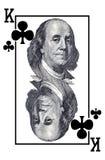 Koning van clubs. Stock Fotografie