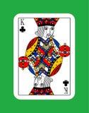 Koning van clubs vector illustratie