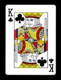 Koning van clubsspeelkaart, Royalty-vrije Stock Afbeeldingen