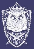 Koning van de nacht royalty-vrije illustratie
