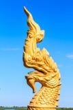 Koning van het hoofdbeeldhouwwerk van Nagas Stock Afbeeldingen