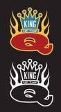 Koning van het q-Barbecueembleem Royalty-vrije Stock Afbeeldingen