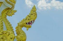 Koning van Na-GA standbeeld, Serpent hoofdstandbeeld Phaya Nak Royalty-vrije Stock Fotografie