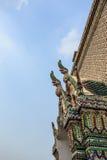 Koning van Nagas op de daktempel Royalty-vrije Stock Foto's