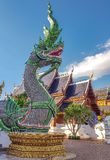 Koning van Nagas in Thailand stock foto's