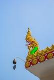 Koning van serpent op kerkdak Stock Foto's