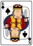Koning van Spades vector illustratie