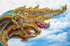 Koning van standbeeld Nagas Royalty-vrije Stock Afbeeldingen