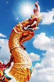 Koning van standbeeld Nagas Royalty-vrije Stock Afbeelding