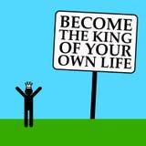 Koning van uw leven Stock Fotografie