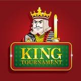 Koning van van de de pookbanner van het clubscasino het tekentoernooien Royalty-vrije Stock Foto's