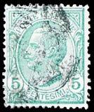 Koning Victor Emmanuel III, Type Leoni serie, circa 1906 royalty-vrije stock foto's
