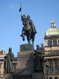 Koning Wenceslas Statue royalty-vrije stock afbeelding