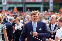 Koning Willem-Alexander en koninginmã ¡ xima van Nederland, Koning ` s Dag 2014, Amstelveen, Nederland Stock Foto