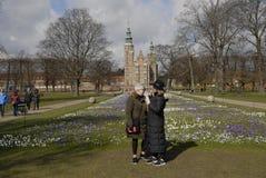 KONINGEN GARDEN_SPRINGS IN DENEMARKEN Royalty-vrije Stock Afbeelding