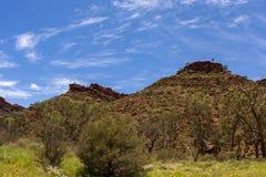 Koningencanion, Noordelijk Grondgebied, het Nationale Park van Watarrka, Australië royalty-vrije stock afbeeldingen