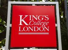 Koningenuniversiteit Londen stock afbeelding